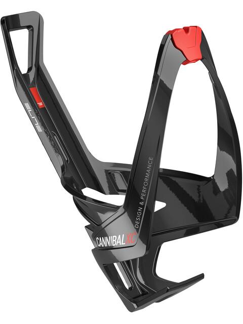 Elite Cannibal XC Flaschenhalter schwarz glänzend/rote Grafik